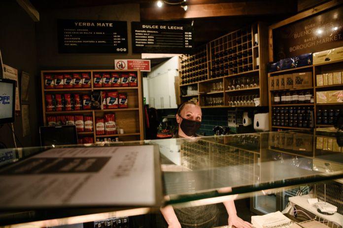 The counter of Porteña Borough Market, an Argentinian restaurant