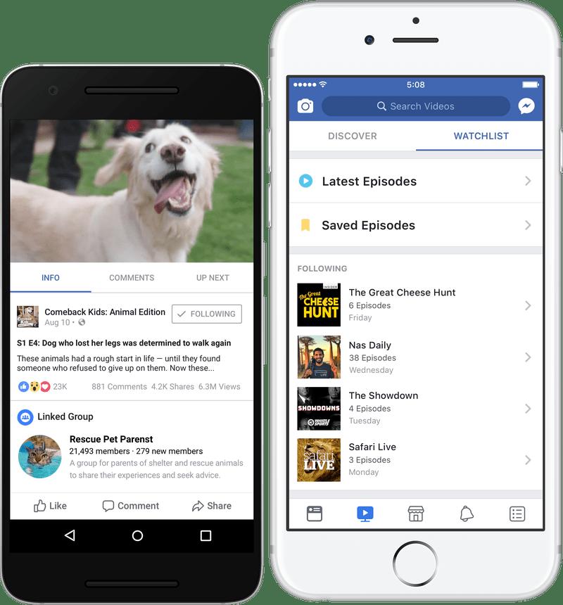 Facebook lança Watch, sua plataforma de vídeos