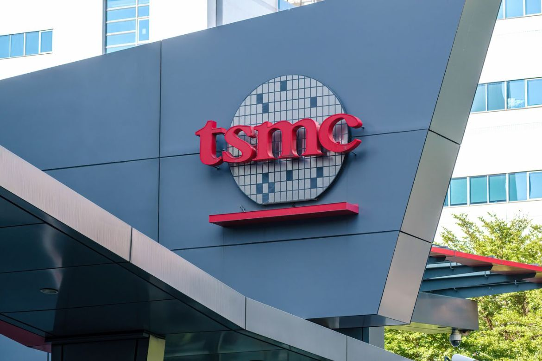 The TSMC (Taiwan Semiconductor Manufacturing Company) logo...