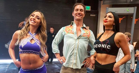 I think Matthew McConaughey is fixing to bring his Boston Crab to WWE