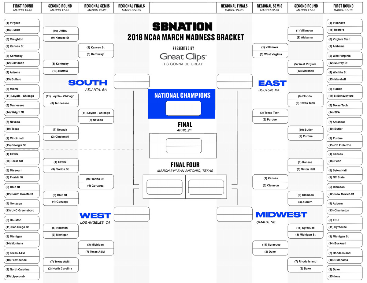 March Madness Download Updated Ncaa Bracket Before