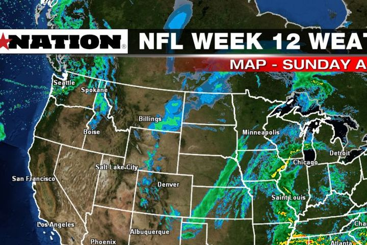 HD Decor Images » NFL weather forecast  Week 12  Storm system misses most games     There s a storm system that stretches from Minnesota down the Mississippi  into the Southern United States Sunday afternoon  Despite a large area of  the