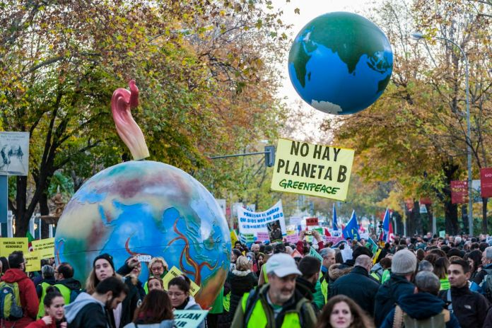 Demonstration for the Climate Change during the COP25 in Madrid