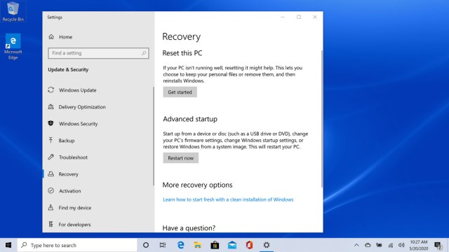 How to reset your Windows 10 PC when your having problems - The Verge