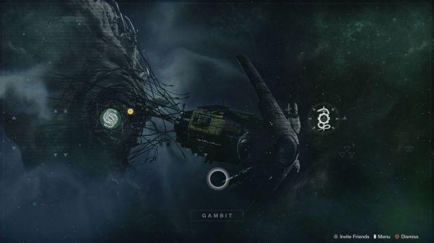 Destiny 2: Beyond the Light Gambit Menu