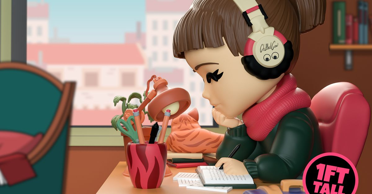 Soon you'll be able to purchase a one-foot-tall figurine of ChilledCow's lo-fi chill beats anime girl