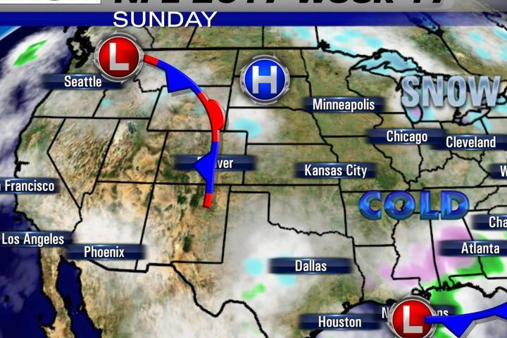 HD Decor Images » NFL weather forecast 2017  Week 17  Regular season ends with very     Lots of cold for the eastern two thirds of the United States as the NFL  ends the regular season