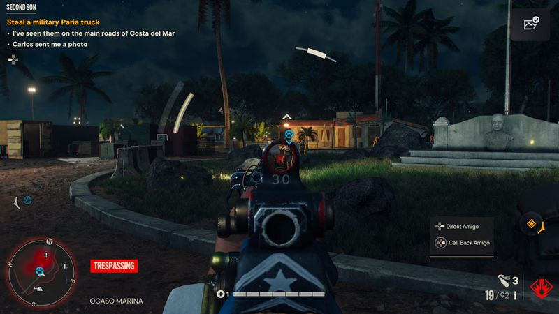 A firefight from a first person perspective in Far Cry 6
