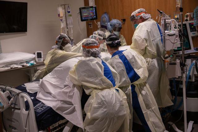 مستشفى ستامفورد مغمور بالمرضى أثناء جائحة فيروس كورونا