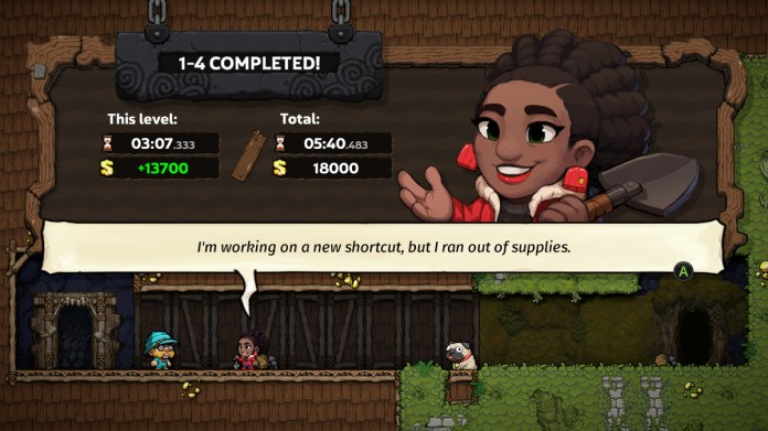 Mama Tunnel, aka Terra, talking about shortcuts in Spelunky 2