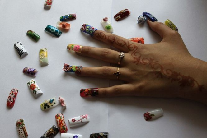 Acrylic Gel Nail Art Extensions In Bangalore At Bounce Style Lounge 9