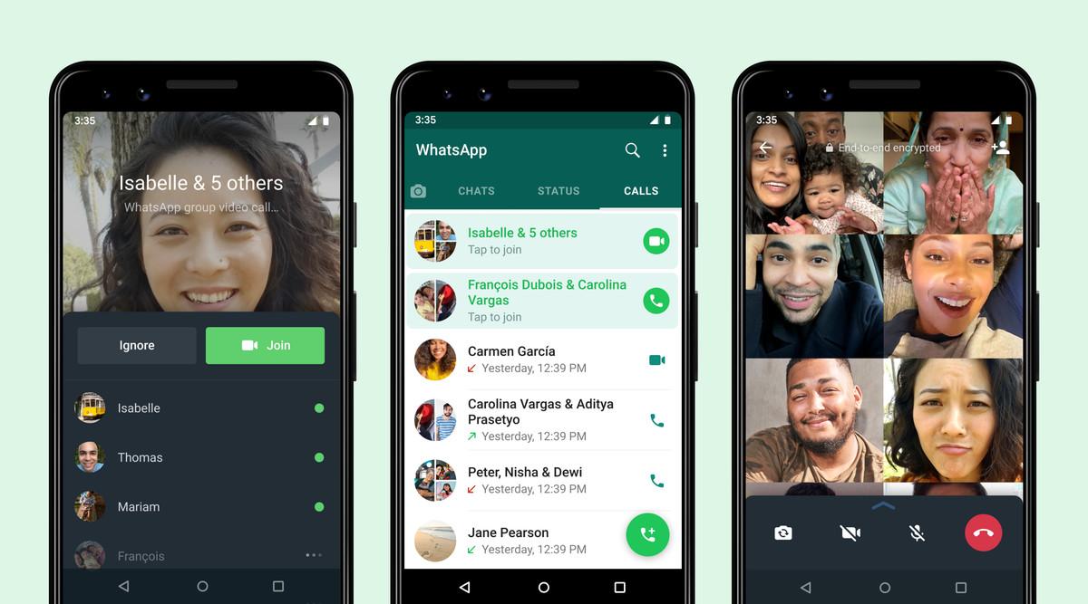 Whatsapp new join group calls