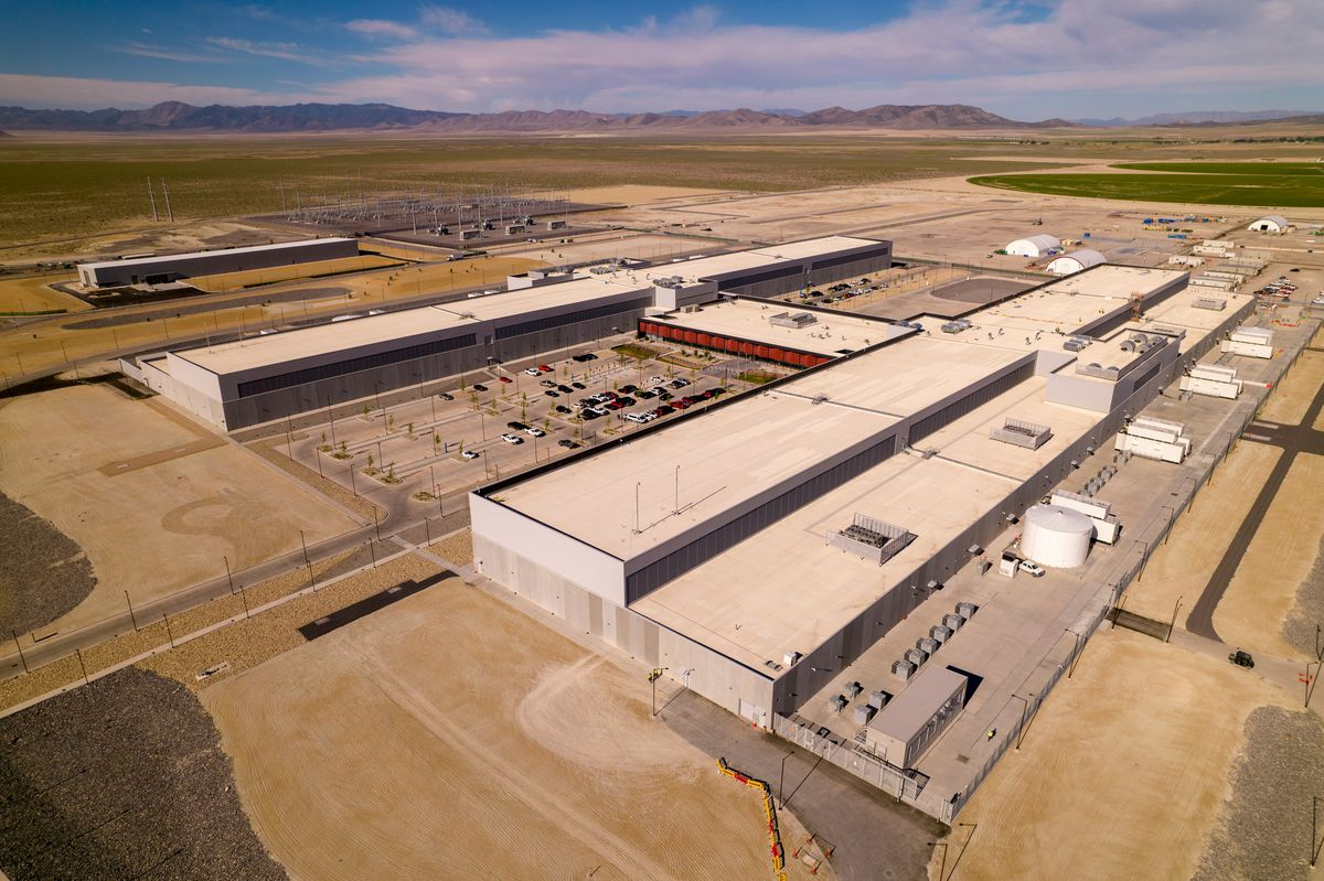Facebook's massive data center in Eagle Mountain has opened its first phase, while work continues on four other structures.