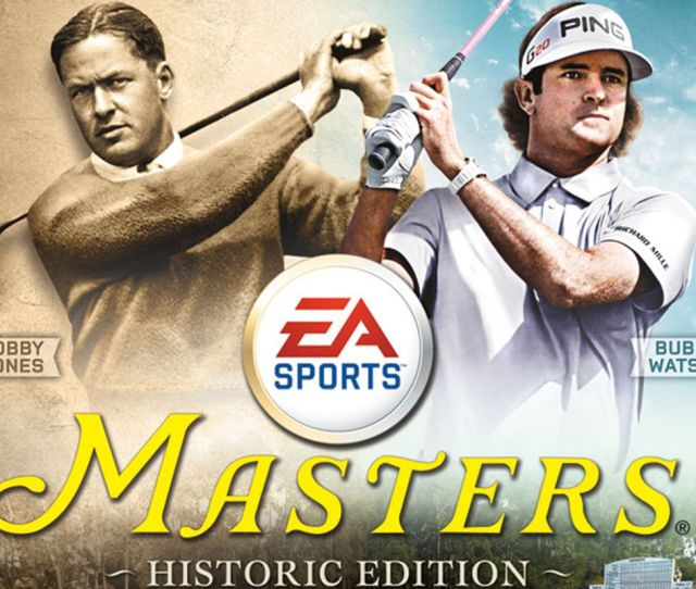 Tiger Woods Pga Tour 14 The Masters Historic Edition Cover Features Bobby Jones Bubba Watson