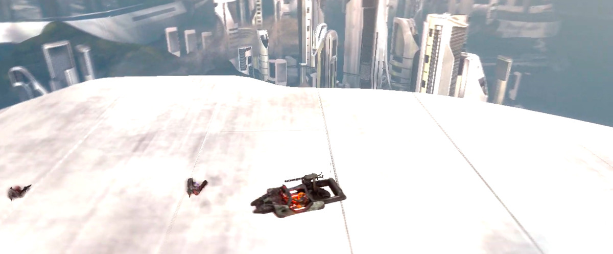 A view of a tower's roof in Halo: Reach
