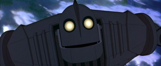 the iron giant flying up into the atmosphere