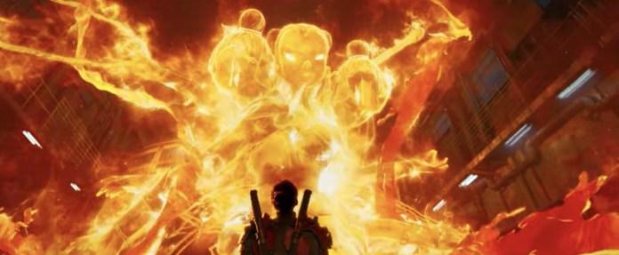Li Yunxiang confronts his three-headed, six-armed fiery Nezha avatar in New Gods: Nezha Reborn