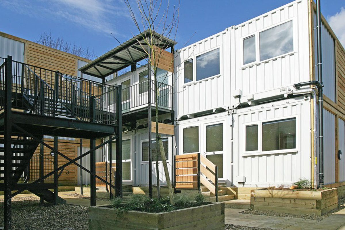 Best Kitchen Gallery: Shipping Containers Transform Into Emergency Housing For The of Residential Container Homes  on rachelxblog.com