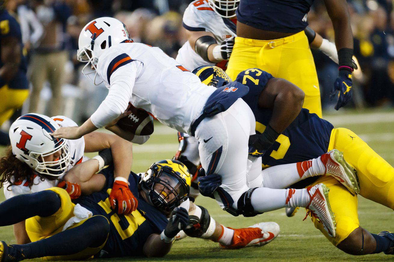 NCAA Football: Illinois at Michigan
