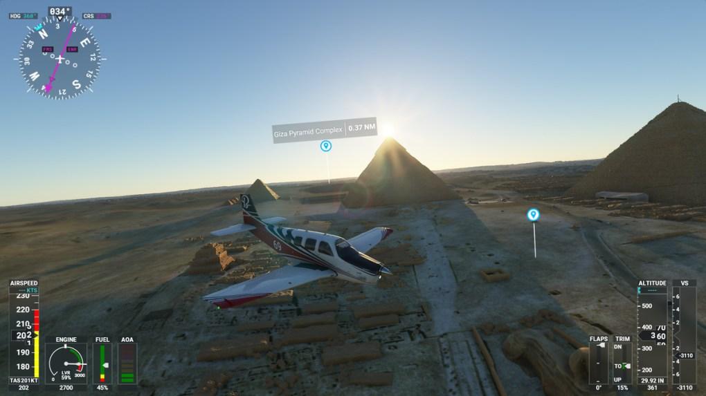 Các kim tự tháp lớn trong Microsoft Flight Simulator