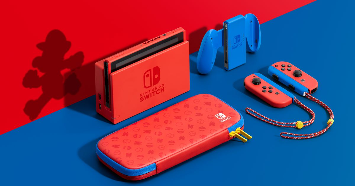 Super Mario 3D World will launch in February alongside a new Nintendo Switch color