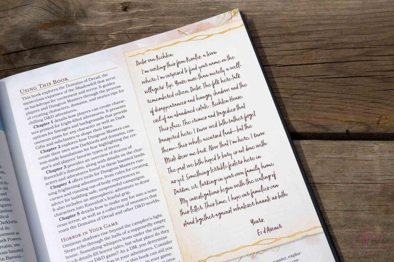 A letter from Ez D'Avenir, written to Doctor van Richten. It is signed simply: 'Yours.'