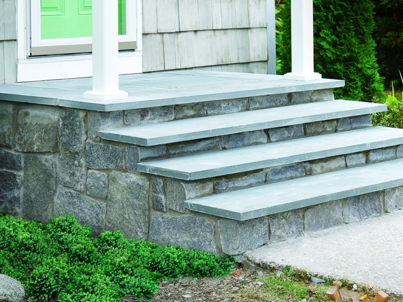How To Clad Concrete Steps In Stone This Old House   Painting Outdoor Concrete Steps   Behr Premium   Epoxy   Front Porch   Deck   Slip Resistant