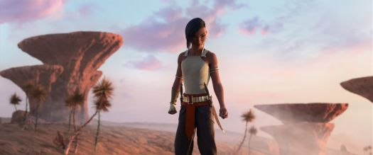 namaari standing in a desert landscape