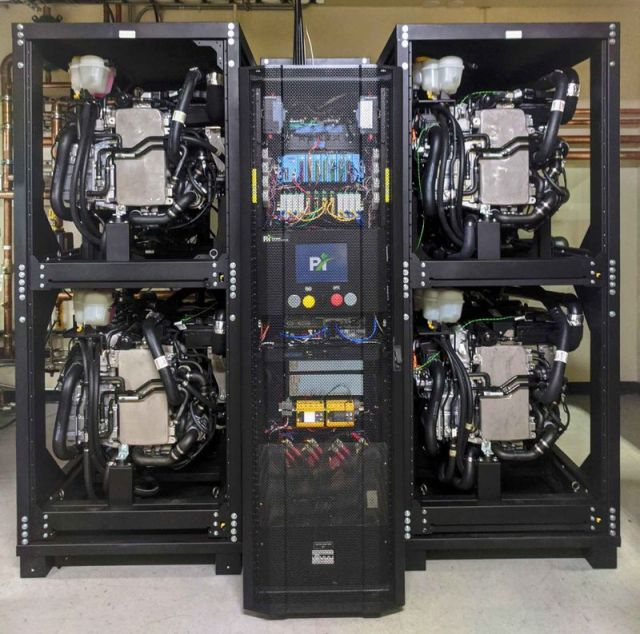 Fuel cells: Power Innovations built a 250-kilowatt fuel cell system to help Microsoft explore the potential of using a hydrogen fuel cells for backup power generation at datacenters. In a proof of concept, the system powered a row of datacenter servers for 48 consecutive hours.
