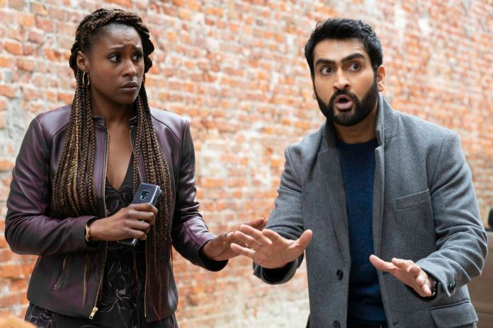 issa rae and kumail nanjiani look shocked