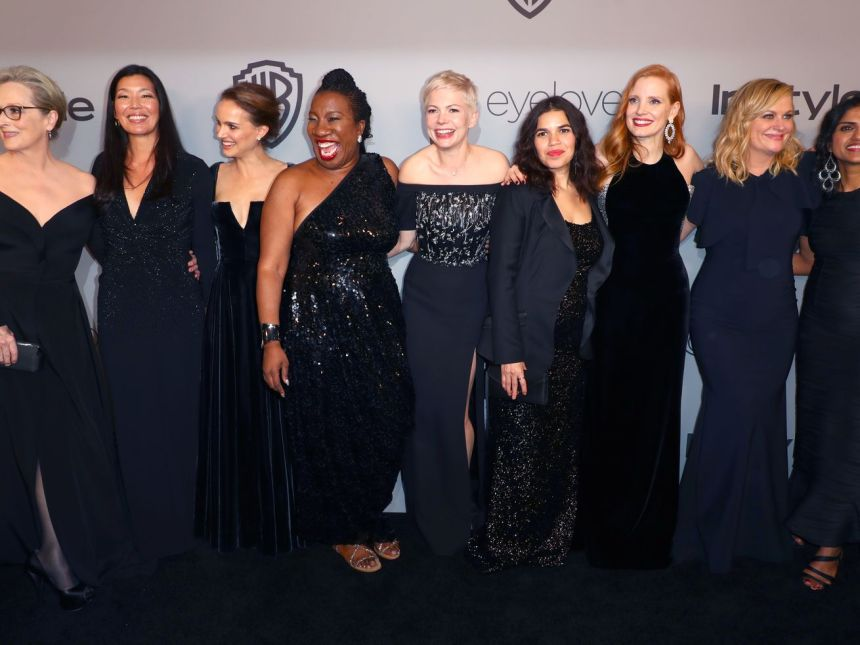 At the 2018 Golden Globes, actresses and activists wore black to promote Time's Up.