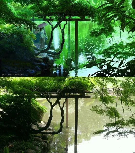 garden of word anime location