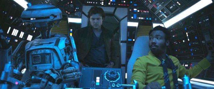 Solo A Star Wars Story - L3-37, Han Solo, and Lando
