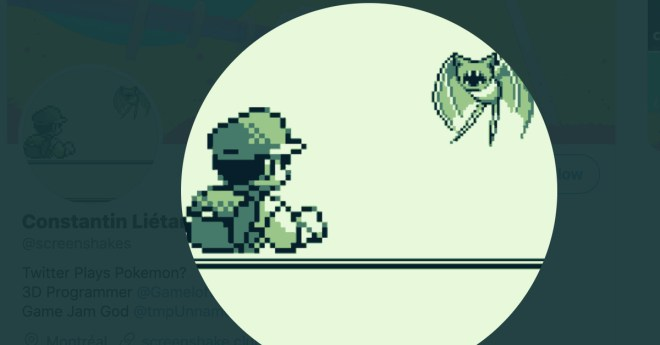 Play a crowdsourced Pokémon Redthrough this Twitter account