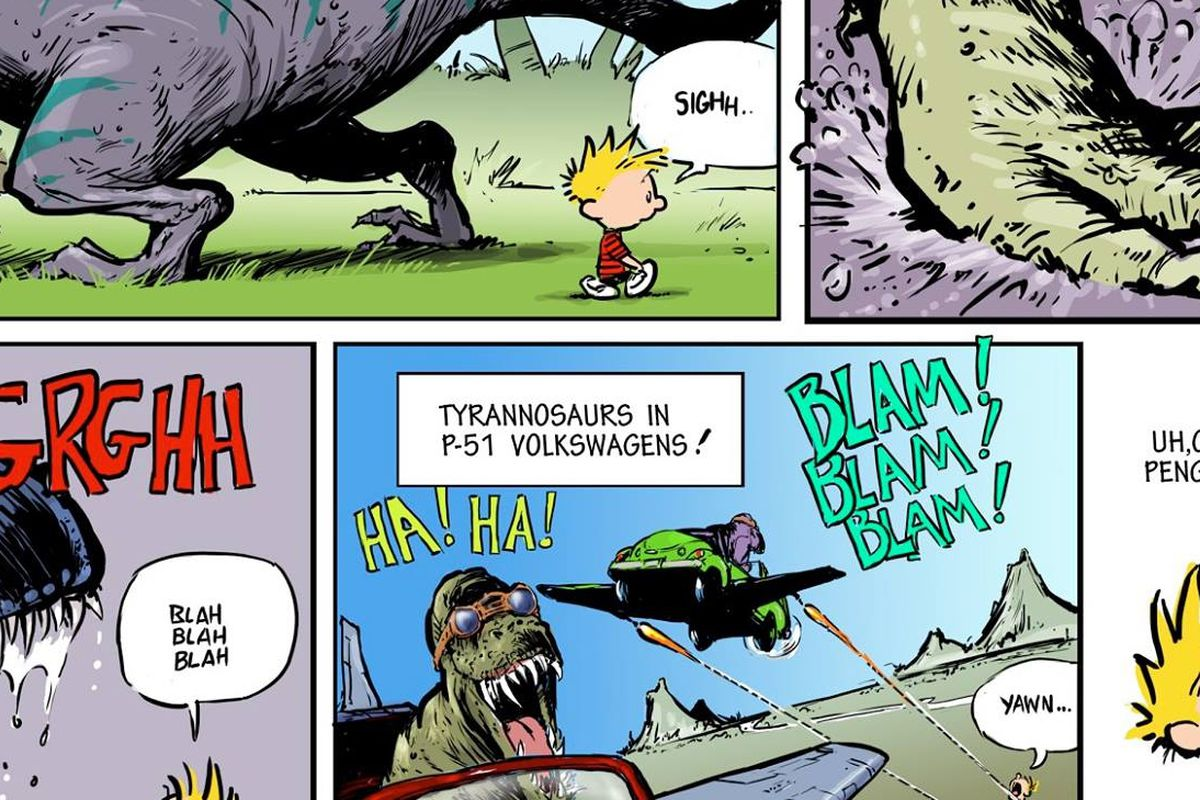 Calvin And Hobbes And Bloom County Titans Of Newspaper