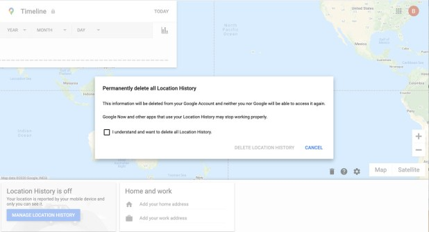Android: You'll be asked to confirm the history deletion.