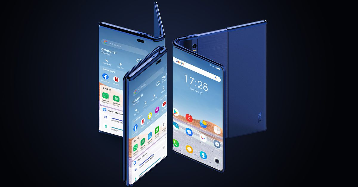 TCL's Fold 'n Roll is a phone that turns into a 10-inch tablet