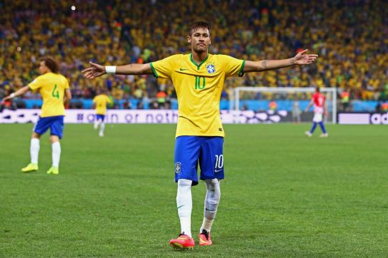 Image result for pic of neymar in brazil color