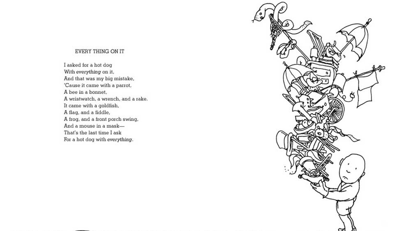 Shel Silverstein Rhymes About Hot Dogs Italian Food