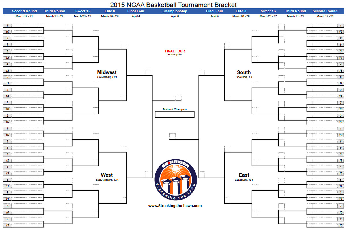 Ncaa Bracket Download Your Printable March Madness Bracket Here