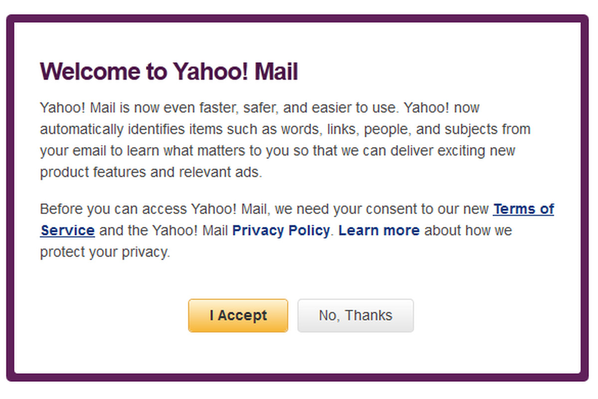 new yahoo mail terms of service blocking access to site on Terms Of Service id=79988