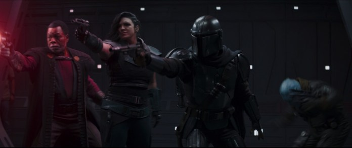 My favorite new Mandalorian character is a crew member who couldn't get out of the shot