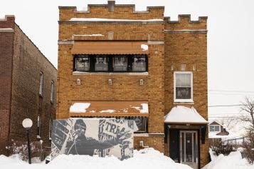 The former home of Illinois Black Panther Party chairman Fred Hampton at 804 South 17th Ave. in Maywood is photographed on Wednesday.