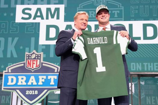 Image result for sam darnold jets draft