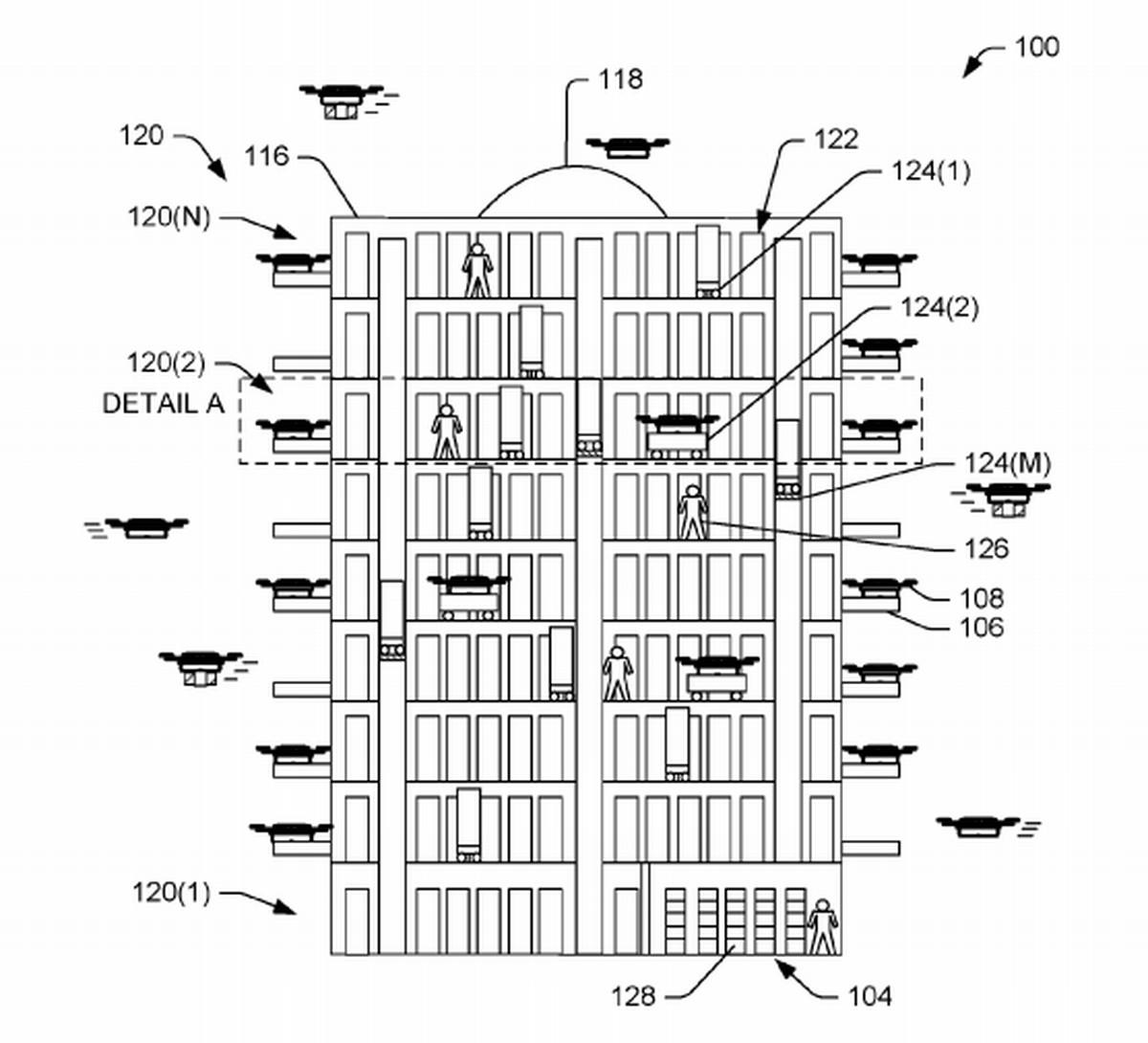 Amazon S Idea For A Massive Drone Dock Looks Like A Cross