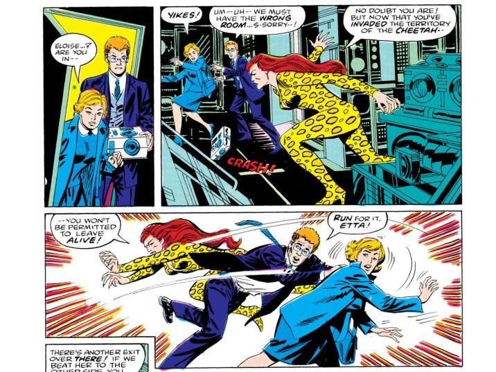 Panels from Wonder Woman comic circa 1980s