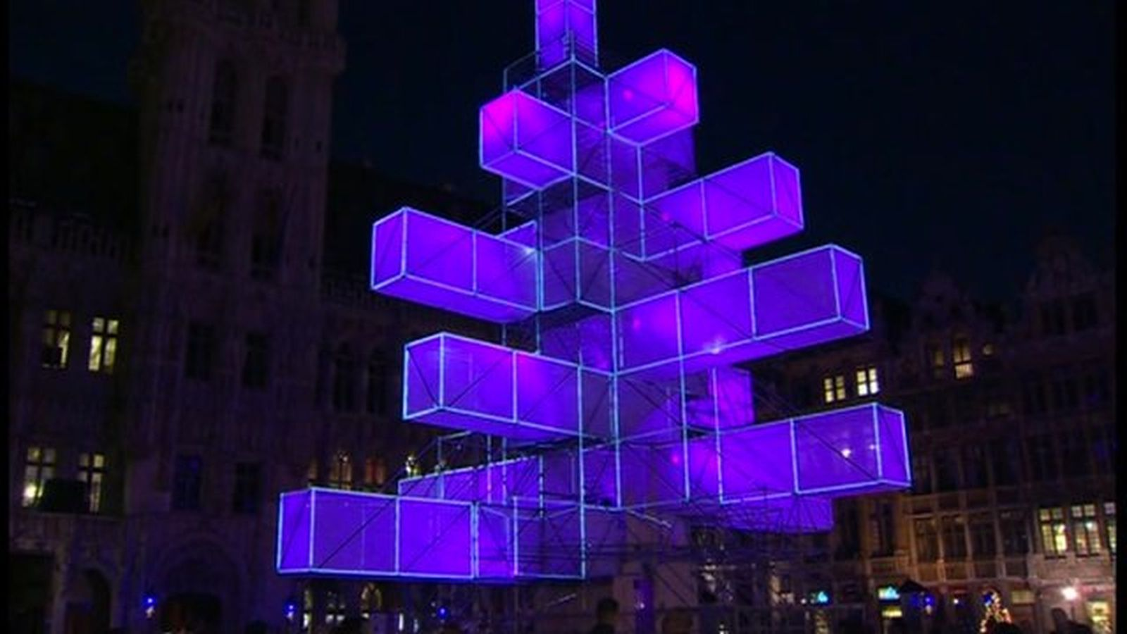 Abstract Christmas Tree Electrifies Brussels With