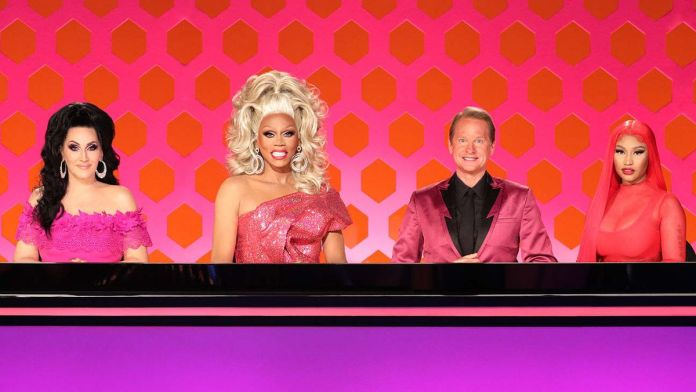 RuPaul and her fellow Drag Race judges prepare for elimination