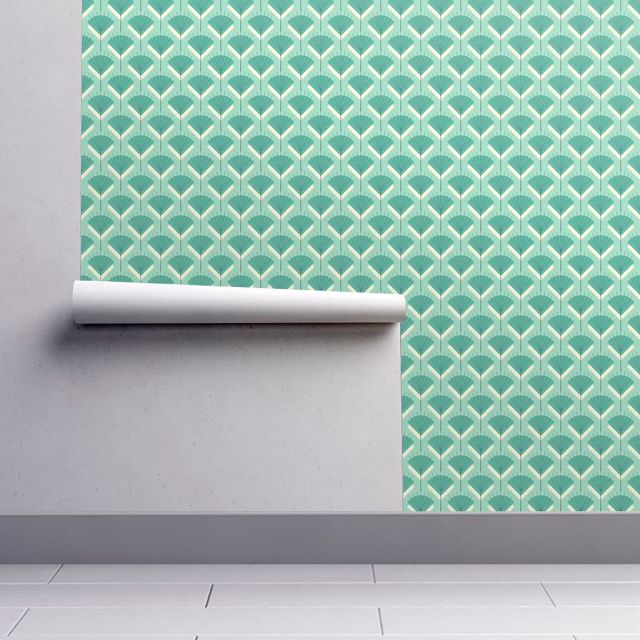 Teal wallpaper