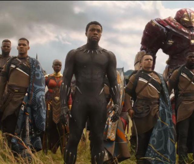 Black Panther And The Avengers In Infinity War